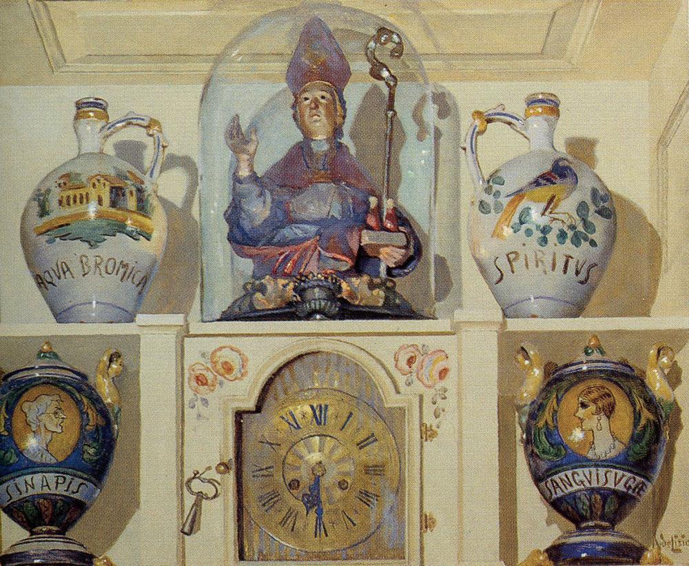 Orologio, olio su tavola – Arnaldo de Lisio