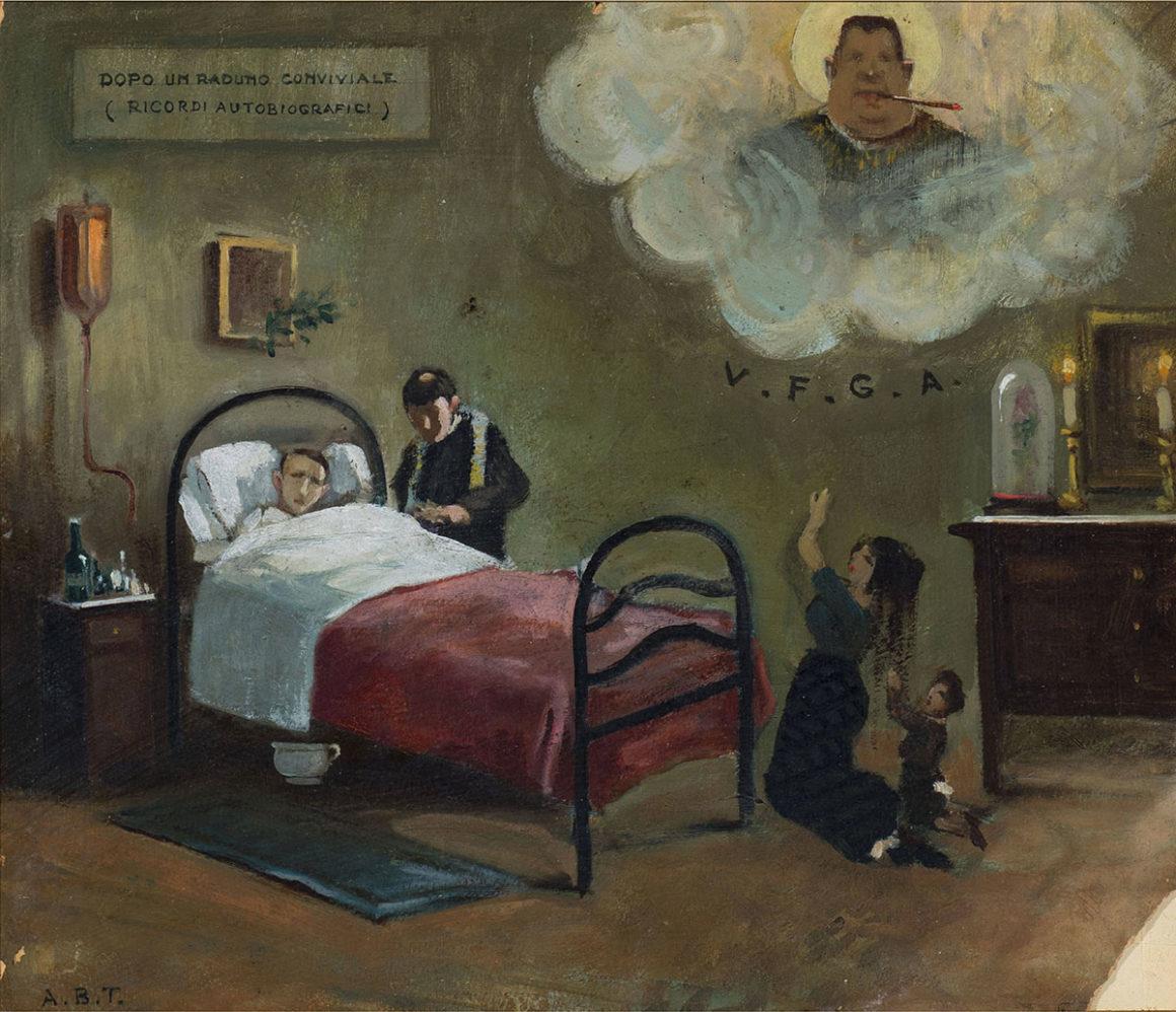 Malato, olio su cartone – Arturo Bacio Terracina