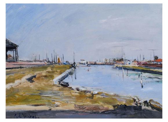 Pomeriggio estivo, olio e tempera su cartone – Carlo Verdecchia