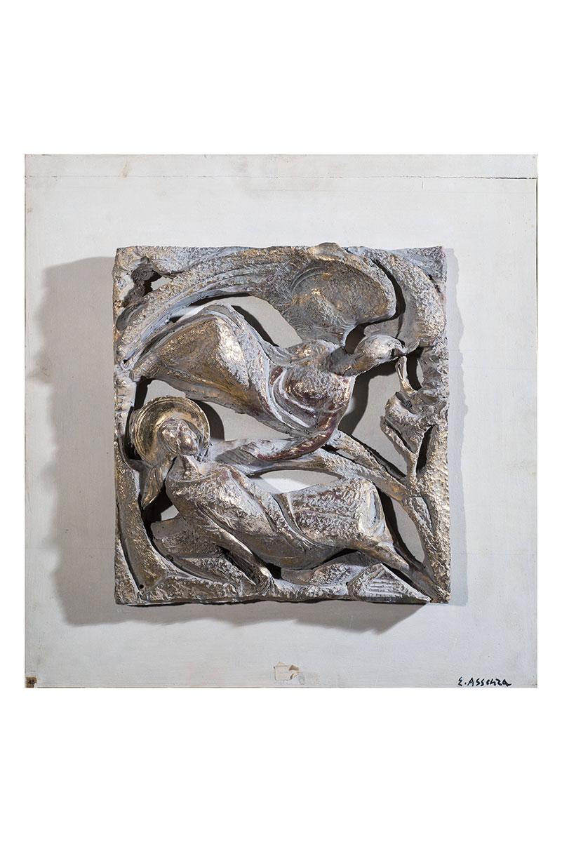 Annunciazione, bassorilievo in ceramica – Enzo Assenza