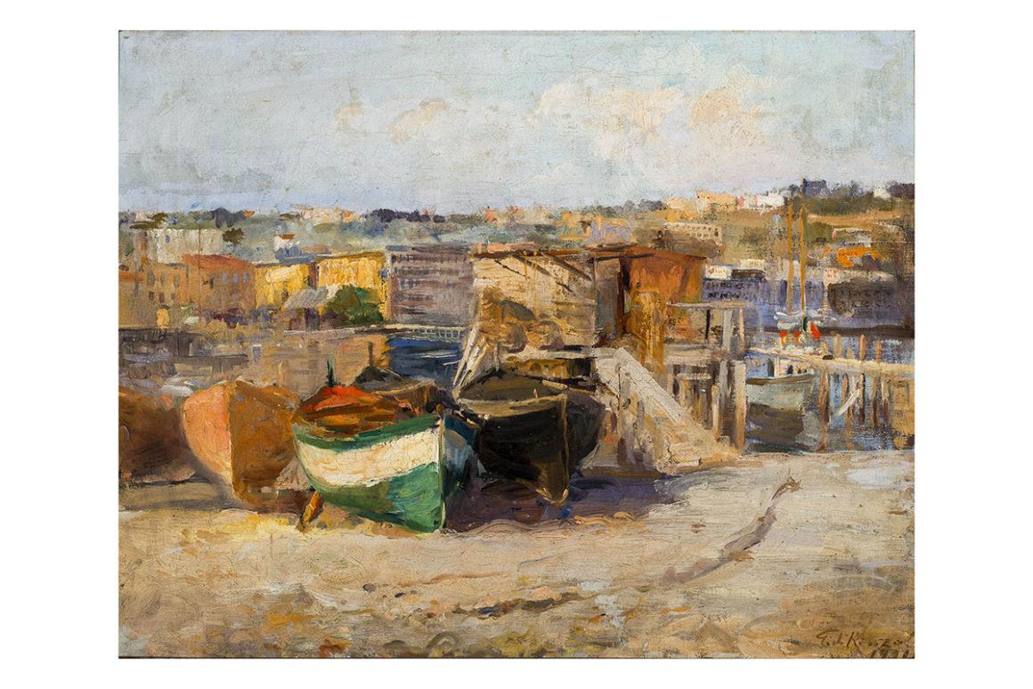 Barche, olio su tela – Guido Di Renzo