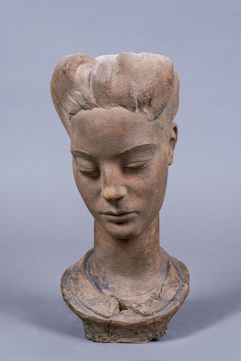Sirena, testa in terracotta – Lelio Gelli