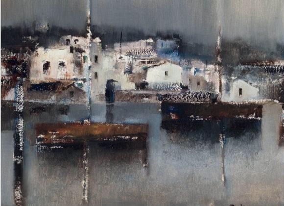 Paesaggio, olio su tela – Lido Bettarini