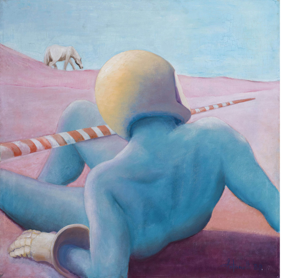 Ripresa, acrilico su tela – Mario Antonelli