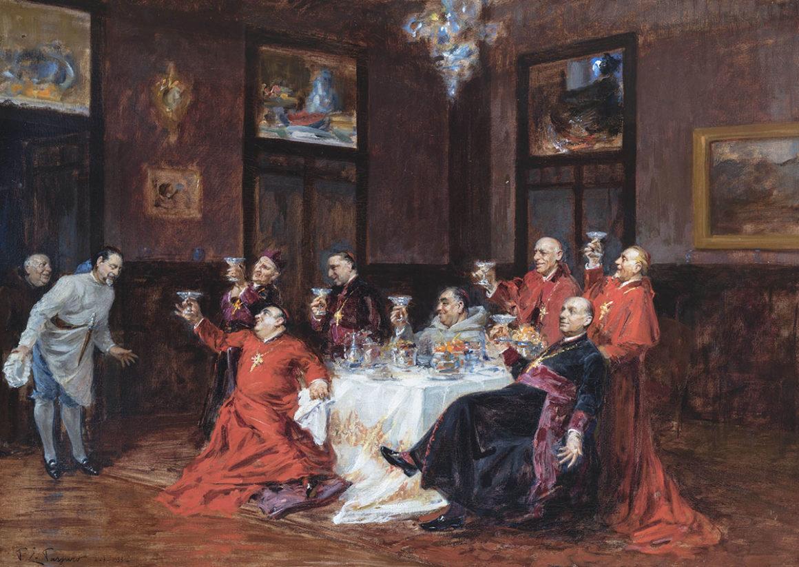 I commensali, olio su tela – Paolo Emilio Passaro