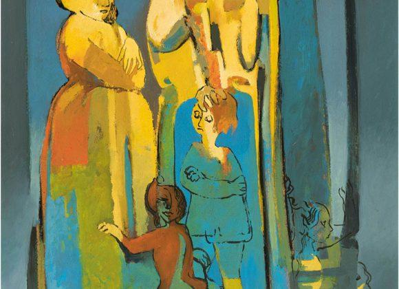 Storie di bimbi, olio su masonite – Umberto Leonetti