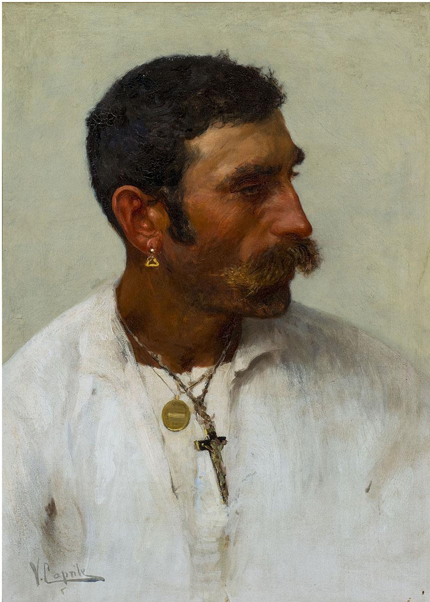 Testa di pescatore, olio su tela – Vincenzo Caprile