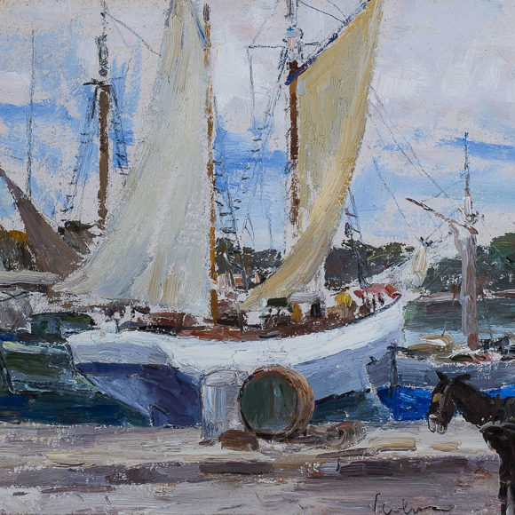 Ischia, olio su cartone – Vincenzo Colucci