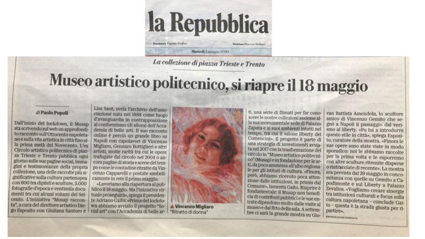Museo Artistico Politecnico si riapre il 18 maggio di Paolo Popoli